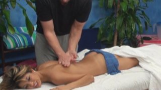 Veronica seduced and fucked by her massage therapist on hidden camera