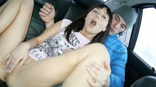 Sex in the car with college girl