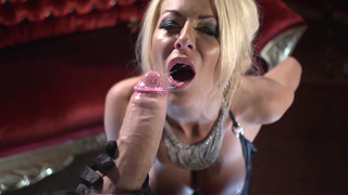 UK slut Tia Layne sucks Danny's fat meaty shaft