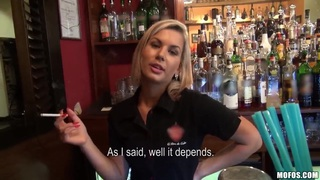 A barmaid teaches you how to fuck her kind