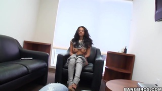 Cassidy loves to suck and fuck at work, pleasing horny colleagues
