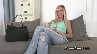 Euro blonde banged on casting reality interview