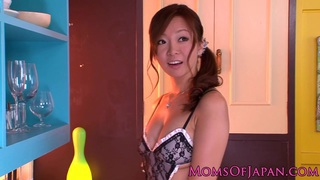 Busty japanese sexy-mother in uniformed pussyfucked