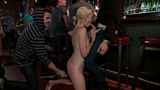 Young blondie disgraced in bar