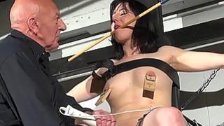 Crossed bondage tit tortures and sexual domination