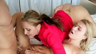 Julia Ann shared cock with Natalia Starr