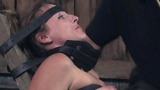 Masked beauty with exposed cunt acquires drubbing