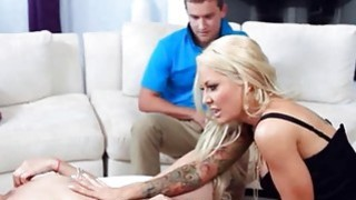 Trophy wife Helly Mae Hellfire fucked her stepson and his GF