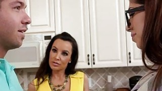 Busty MILF Lisa Ann teaches teen how to fuck properly