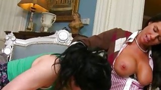 Busty milf Veronica Avluv threesome sex in the living room