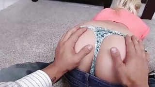Innocent teen Marsha May gets her pussy fucked by fat dick