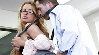 Big tits office babe Corrina banged good