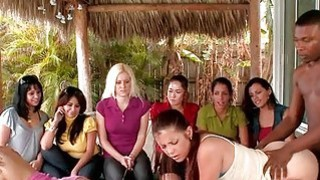 Girls acquire jizz on boobies after sex in public