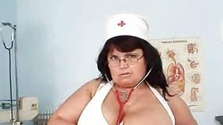 Huge tits Mother nurse shows off her huge mellons