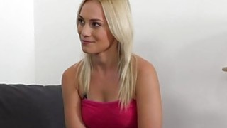 Blonde fucked doggy style in casting