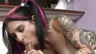 Cutie Joanna Angel sucking huge massive dick for p