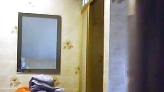 My Granny caught by spy camera in bathroom