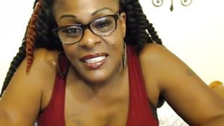 ebony mature real housewife in glasses telling u dont be so shy
