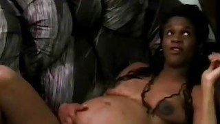 Pregnant ebony loves to feel BBC deep inside her muff
