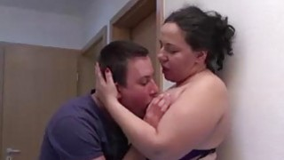 Fat mature gets fucked hard by young guy