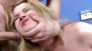 Young dude practicing sex with pretty blonde chick