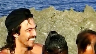 Sluty African Whore Fucked On A Beach In An Interracial Threesome