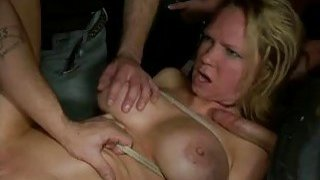 Hot pretty girl gets mind drilled and slavery sex