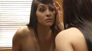 Busty mom shares massive cock with her slutty daughter