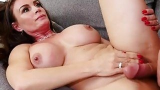 Slim brunette mom Diamond Foxxx fucked by her daughter's boyfriend