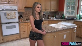 Petite stepsister teen licked and fucked by her stepbro