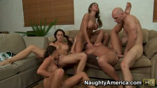 Group sex including Chanel Preston & Hunter Bryce & Kourtney Kane & Sadie Swede