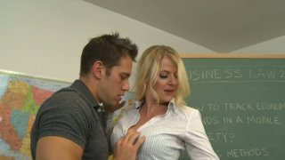 Hot teacher Anita Blue seduces her student's father
