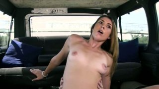 Hussy girl Taylor Slit rides cock in the car