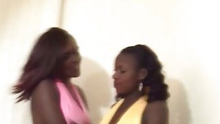 Two curvy African chicks get slammed in an awesome threesome