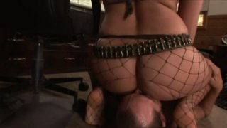 Devilish slut Nicki Hunter sucks hard dick in a 69 position