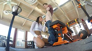 Hardcore siblings sex in the gym