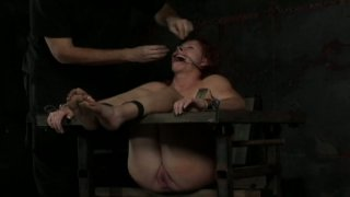 Crying bitch in hood Catherine de Sade goes under BDSM treatment
