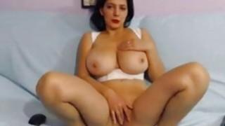 Big Tiitied brunette milf hot fingering