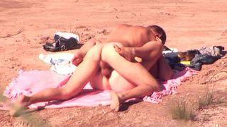 Voyeur action at the beach