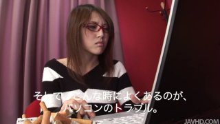 Starting with mobile phone Japanese chick Rino Mizusawa continues with dildo