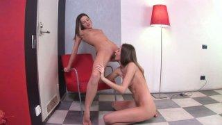 Ashley Sweet checking Lanas anus with dildo