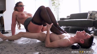 MILF music teacher using tiny boy as fuck toy