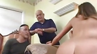 Slim wife fucks while holding hubbys hands
