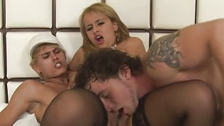 Stare at two bisex black men and their girlfriend