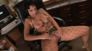 Provocative whore Nicki Hunter is fucking feisty wearing sassy outfit