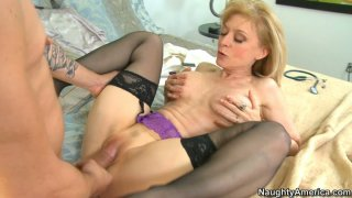 Tremendous milf Nina Hartley fucks like real pro