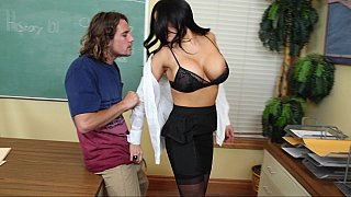 Big Tits Teacher Fucks Her Big-Dick Student at the Office