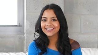 Tiny teen latina Nikki Kay goes big