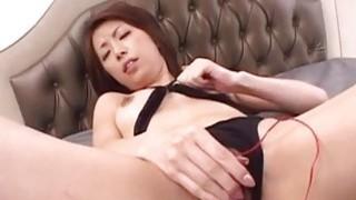 Tomoe Hinatsu enjoys vibrator