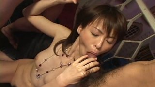 Adorable and hot slut Ai Himeno moans while riding a cock joyfully